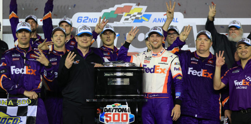 Denny Hamlin Edges Ryan Blaney For Third Daytona 500 Win