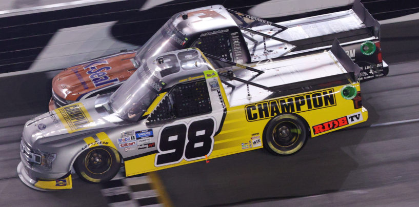Grant Enfinger Edges South Carolina's Jordan Anderson In Photo Finish At Daytona