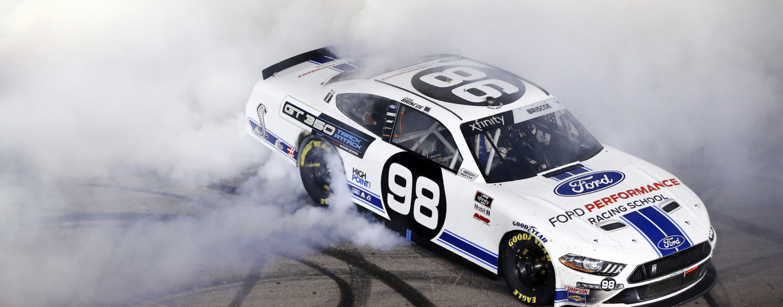 Chase Briscoe Wins Rain Delayed Boyd Gaming 300 at Las Vegas Motor Speedway