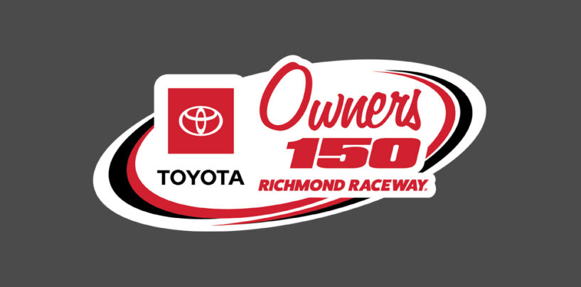 Virtual Richmond Raceway To Host Toyota Owners 150 eNASCAR iRacing Pro Invitational Series Race On Sunday, April 19