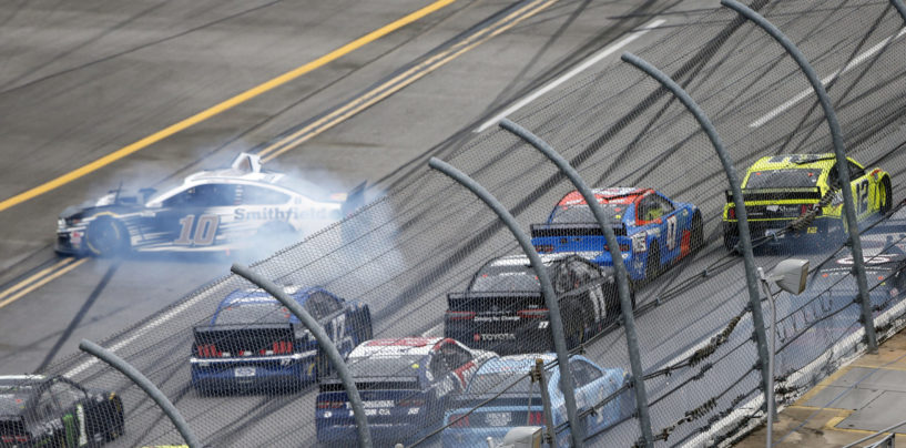 Ryan Blaney Edges Ricky Stenhouse Jr. At Talladega As Field Crashes Across Finish Line