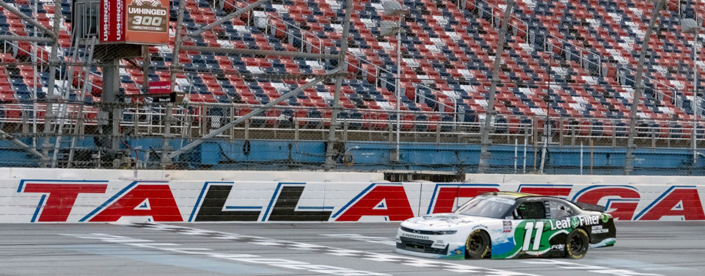 Justin Haley Pulls Away On Final Lap To Win NASCAR Xfinity Series Unhinged 300 At Talladega Superspeedway