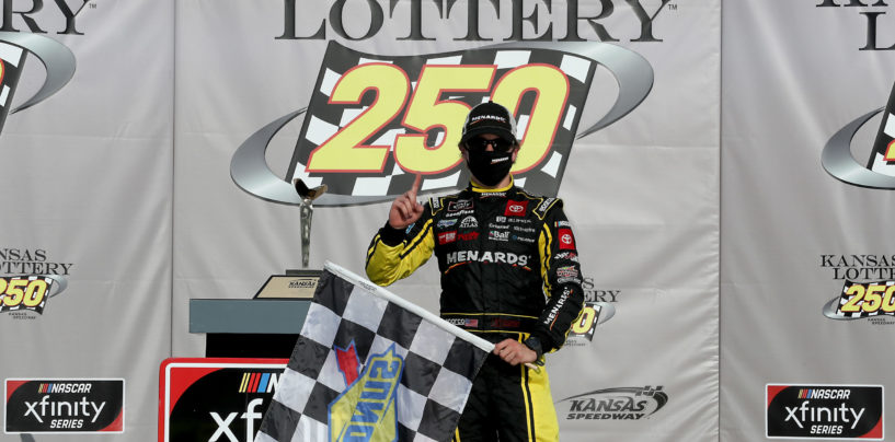 Brandon Jones Wins Kansas Lottery 250 In Overtime Thriller