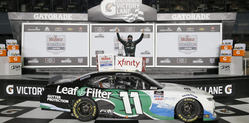 Justin Haley Emerges With Win In Wild Finish In Wawa 250 At Daytona