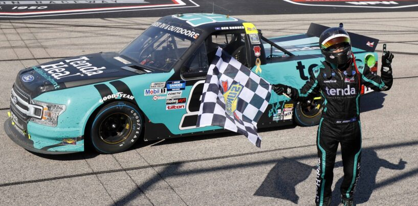 Pit Strategy Propels Ben Rhodes To Victory In NASCAR Overtime At Darlington