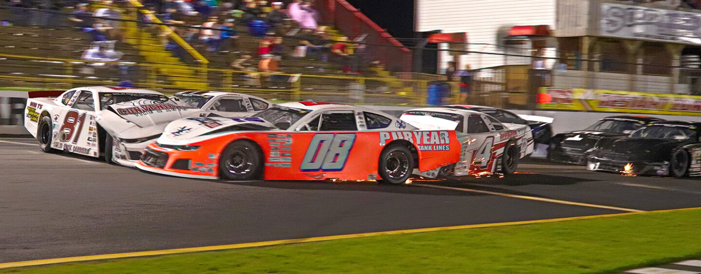 Layne Riggs Takes Victory In Chaotic CARS Tour Race At Carteret County Speedway