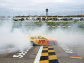 Joey Logano Outruns Kevin Harvick In Kansas And Advances To The Championship 4 Of The NASCAR Playoffs