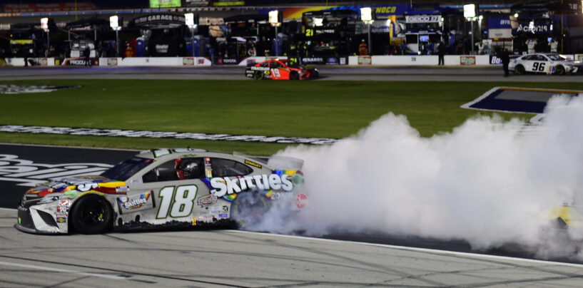 Kyle Busch Victorious In Rain-Delayed Autotrader EchoPark Automotive 500