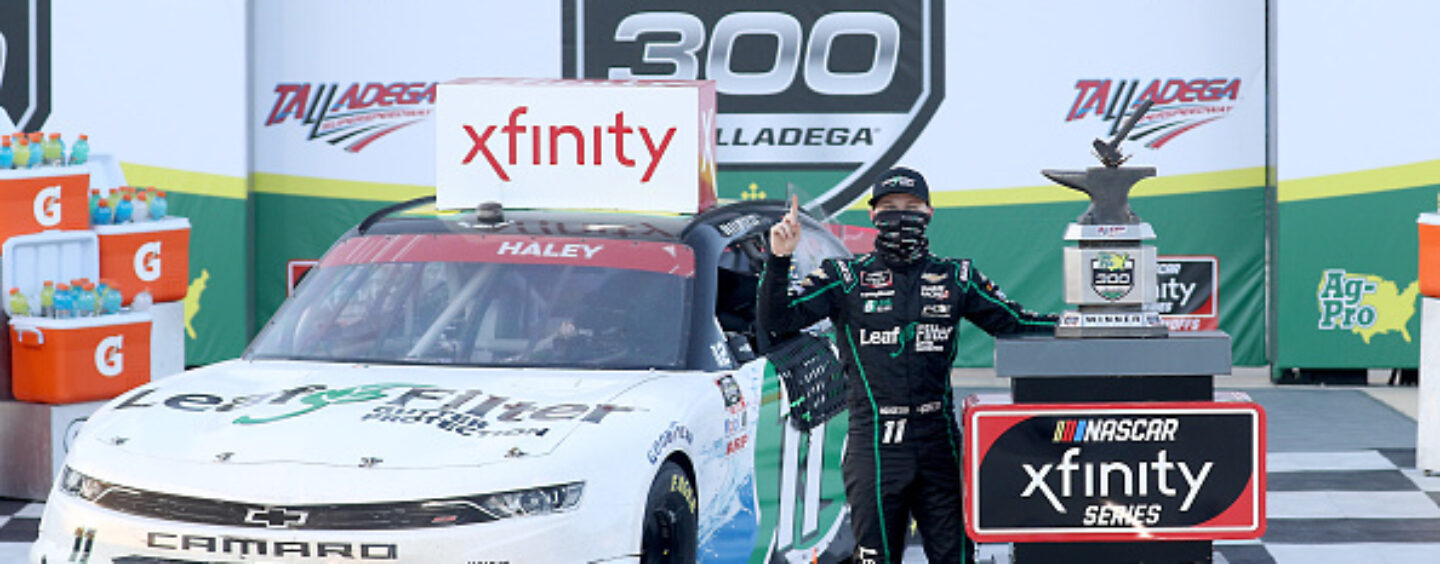 """Justin Haley Emerges From """"Darkhorse"""" to Victor in Chaotic Finish to Ag-Pro 300 At Talladega"""