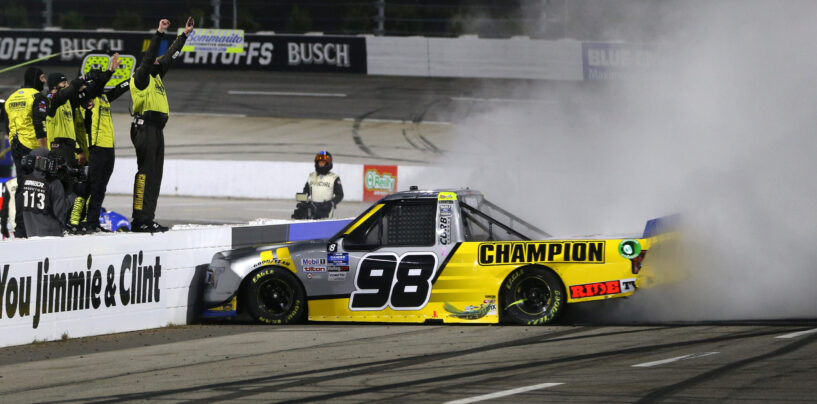 Grant Enfinger Wins NASCAR Hall Of Fame 200 NASCAR Gander RV & Outdoors Truck Series Playoff Race At Martinsville Speedway