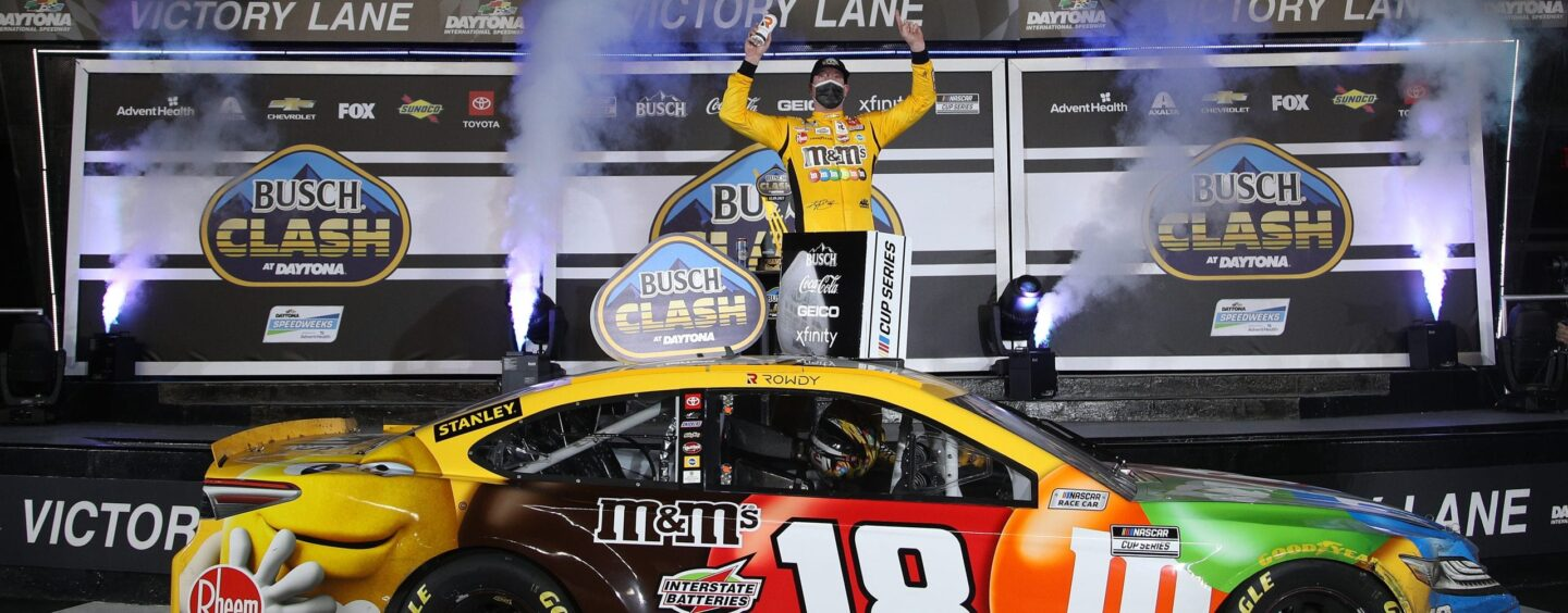 Kyle Busch Wins Busch Clash At Daytona Road Course As Elliott And Blaney Collide