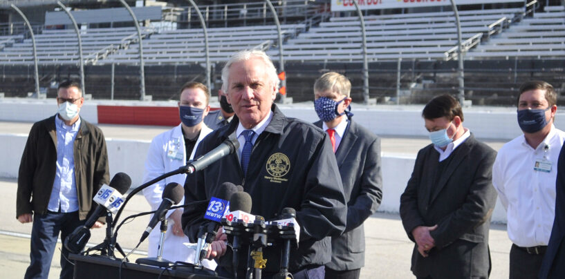 Gov. Henry McMaster Visits McLeod Health's Mass Vaccination Event At Darlington Raceway