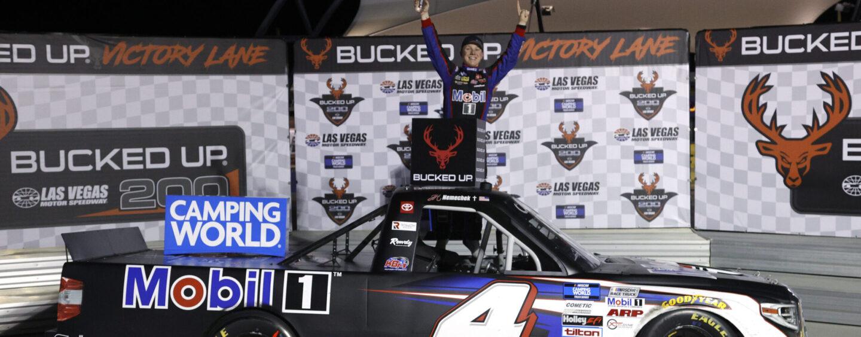 John Hunter Nemechek Holds Off Kyle Busch To Win Truck Race At Las Vegas