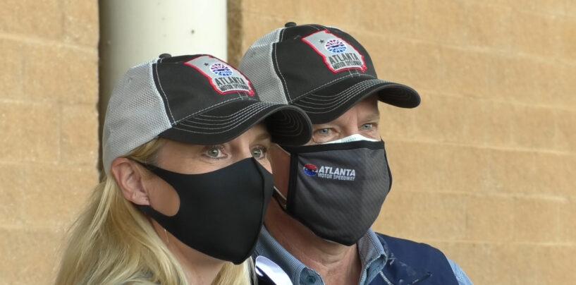 Gov. Brian Kemp Tours Atlanta Motor Speedway With Race Fans