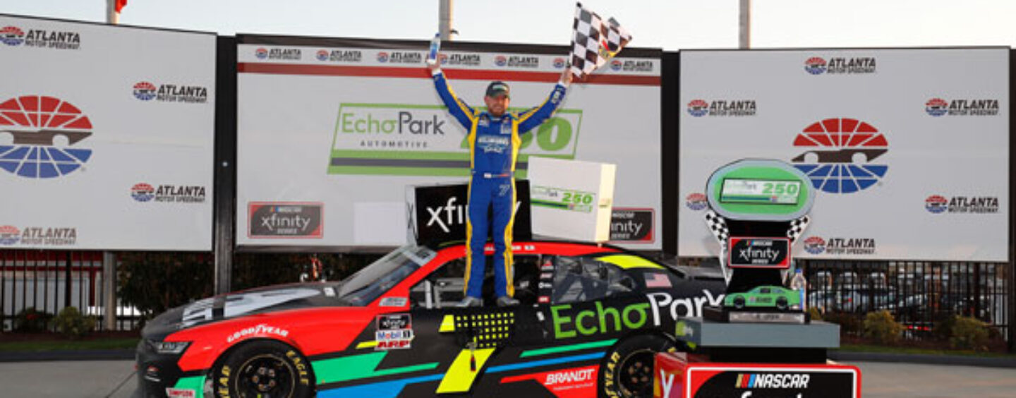 Allgaier Pilots EchoPark Machine To Victory Lane In The EchoPark 250