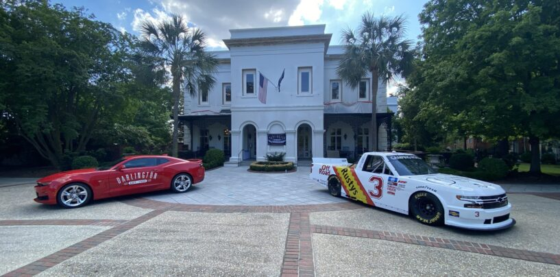 Jordan Anderson Unveils Darlington Throwback Truck At S.C. Governor's Mansion With S.C. Gov. Henry McMaster And Lt. Gov. Pamela Evette