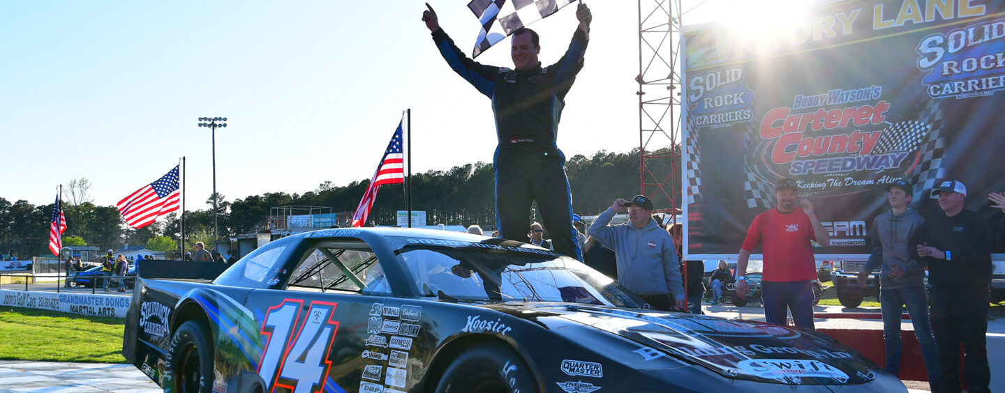 Curtis Lanier Outduels Steve Sullivan In Closest Finish In Carteret County Speedway History
