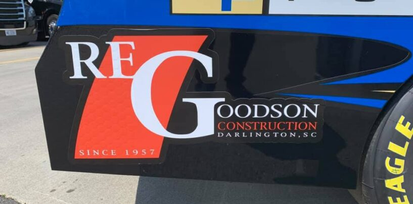 R.E. Goodson Construction Co. To Ride Along With Jeremy Clements At Darlington Raceway