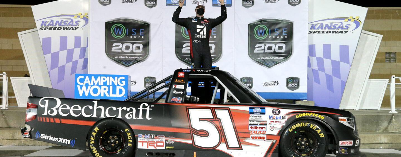 Kyle Busch Grabs His 61st Truck Win At Kansas Speedway