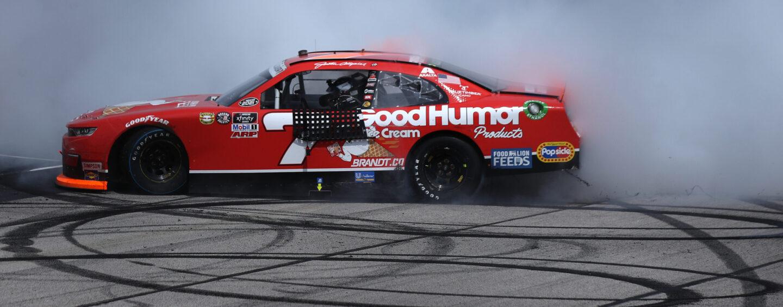 Justin Allgaier Outruns Josh Berry To Win At Darlington Raceway In NASCAR Overtime
