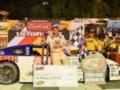 Justin Johnson Takes Advantage Of A Late Race Restart To Best Rookie Teammate Kaden Honeycutt At Caraway Speedway