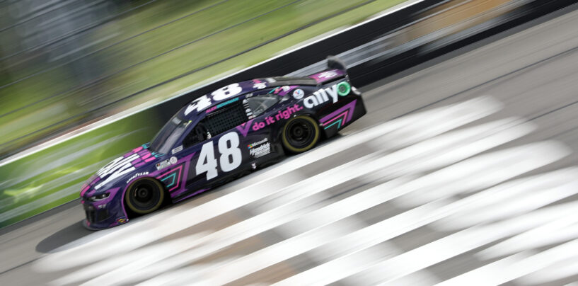 Kyle Larson Blows Tire On Final Lap, And Alex Bowman Slips By To Win At Pocono