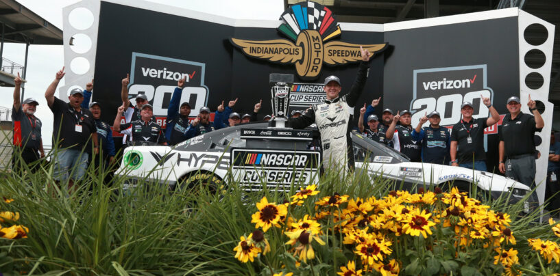 AJ Allmendinger Wins Wild NASCAR Cup Race At Indianapolis Motor Speedway Road Course