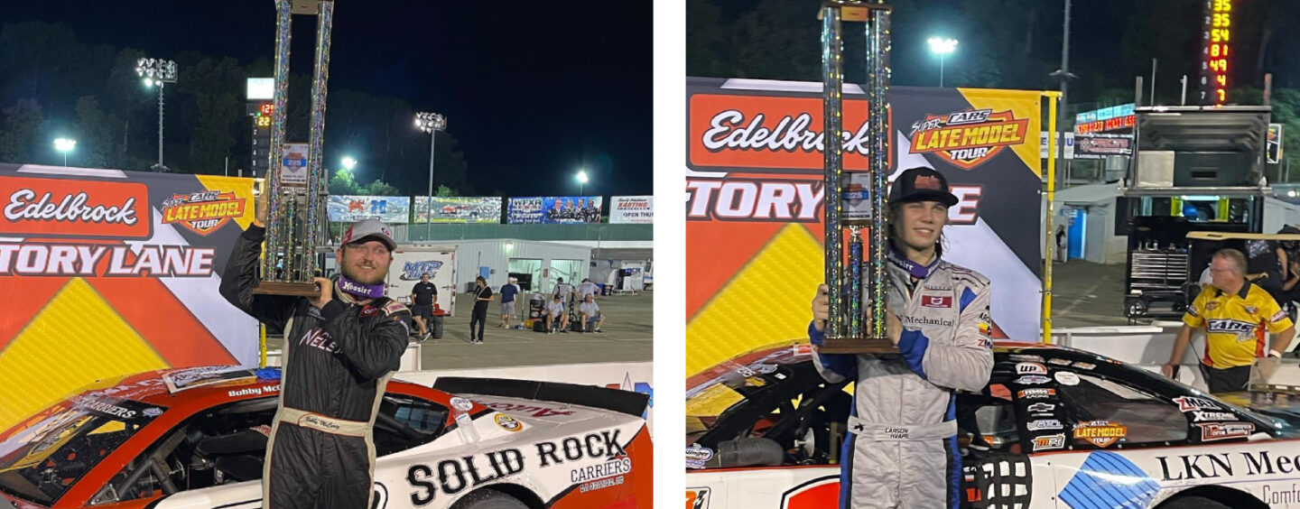 Bobby McCarty And Carson Kvapil Return To CARS Tour Victory Lane In Series Return To Motor Mile