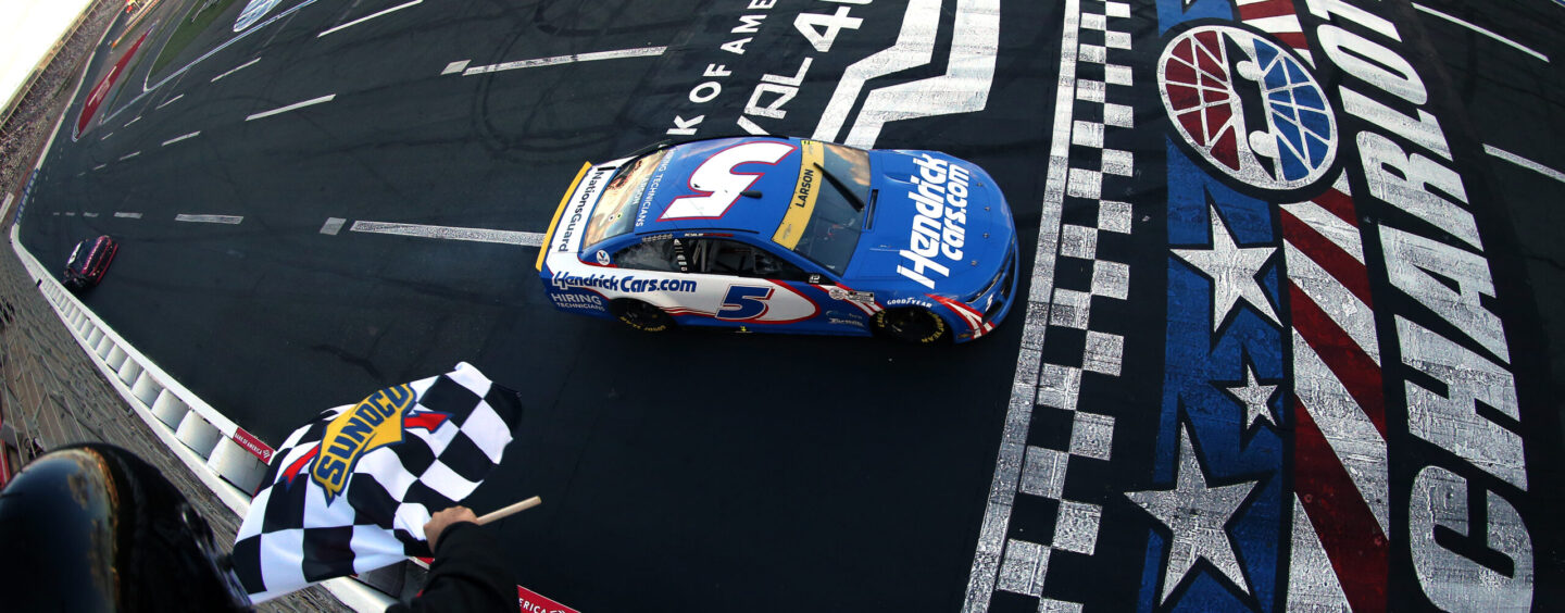 Kyle Larson Wins Battle Royal At Charlotte ROVAL, Advances In Playoffs