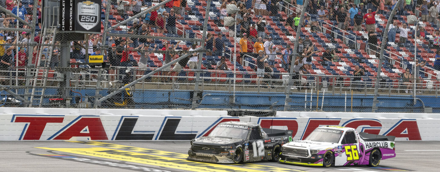 Tate Fogleman Bags Unlikely Win In Wild Chevy Silverado 250 NASCAR Camping World Truck Series Race At Talladega Superspeedway