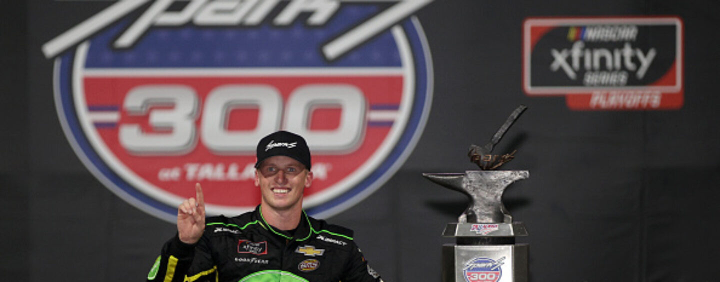 Another First-Time Winner: As Darkness Falls On The Sparks 300 At Talladega Superspeedway, Brandon Brown Gets Breakthrough NASCAR Xfinity Win
